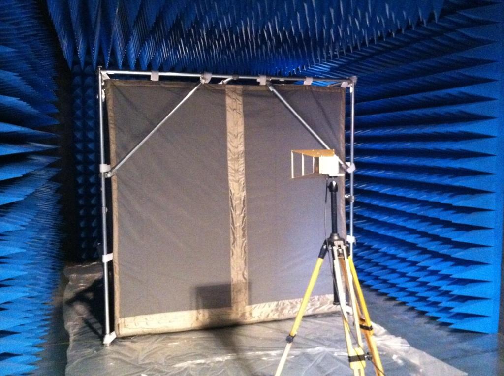 shielded tent 3x3x3mt.